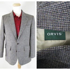 Orvis Lightweight Highland Tweed Sport Coat 38R